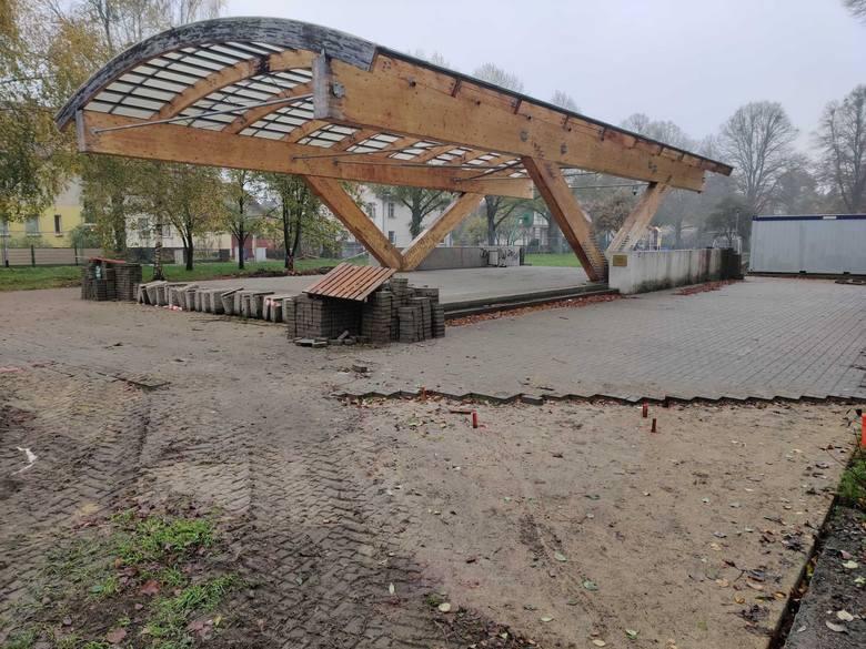 Zieleniec im. Waleriana Pawłowskiego w Szczecinie w przebudowie [ZDJĘCIA]