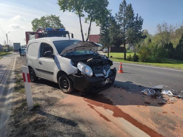 Wypadek w Pilźnie. W zderzeniu tira z osobówką ranne zostały dwie osoby