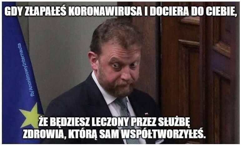 Łukasz Szumowski ma koronawirusa a internet ma memy. Zobacz je na kolejnych slajdach galerii
