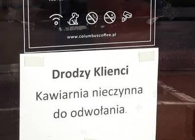 Pani Anna z Gorzowa, jak wielu właścicieli podobnych biznesów, zamknęła kawiarnię. Zawiesiła też działalność gospodarczą