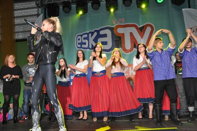 Koncert Cleo w szkole w Gorzowie Śląskim.