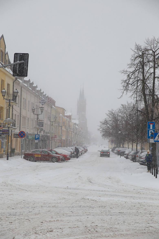 Zima 2017 w Białymstoku. Sypnęło śniegiem. Mrozy też wracają