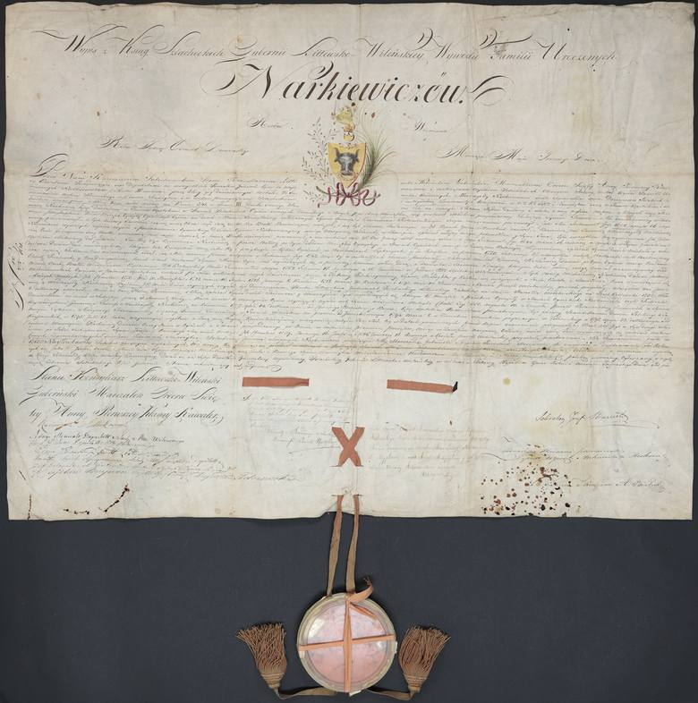 Potwierdzenie szlachectwa rodu Narkiewiczów - dokument z 1812 roku