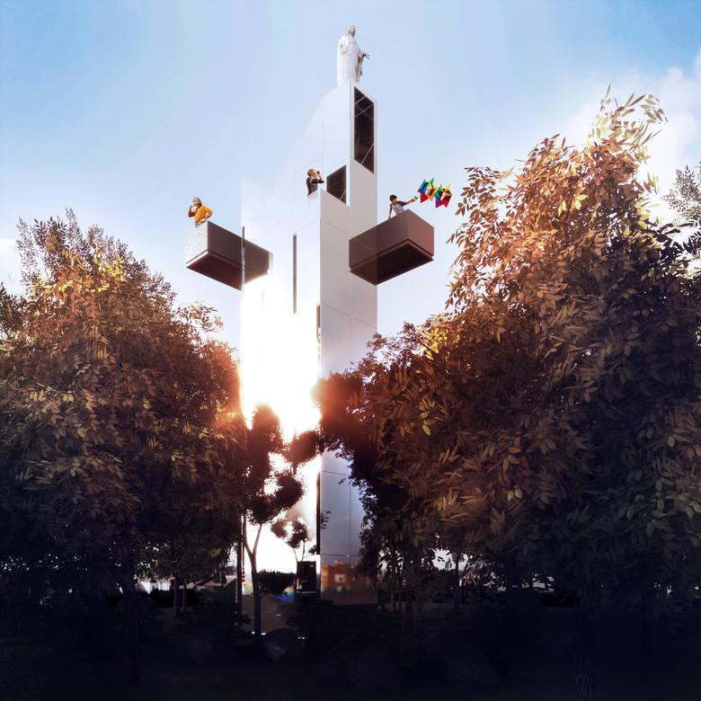 Wizualizacje wieży widokowej wykonana przez studio architektoniczne Tynk Tank.