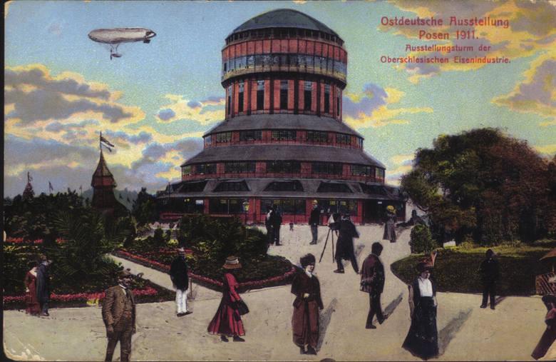 Zeppelin był chętnie dorysowywany na pocztówkach z Poznania