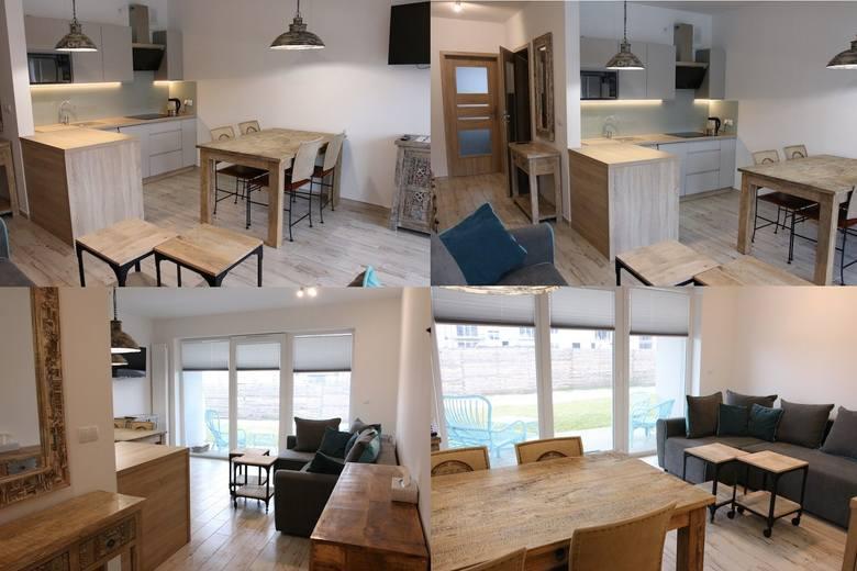 2-pokojowy apartament o pow. 44 mkw położone na parterze budynku z 2017 r. Mieszkanie posiada taras (południe), który latem stanowi bezpośrednio przedłużenie