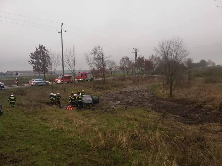 Trzy osoby zostały ranne w zderzeniu dwóch samochodów w powiecie pilskim.