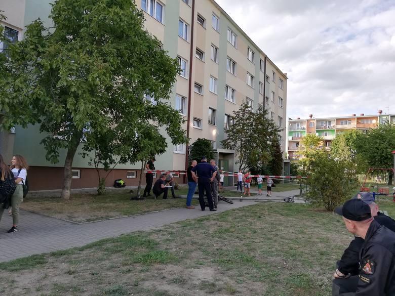 Na miejsce przyjechała także policja oraz straż pożarna. Teren został zabezpieczony. Gołym okiem było widać, że u podstawy złamana latarnia była całkowicie