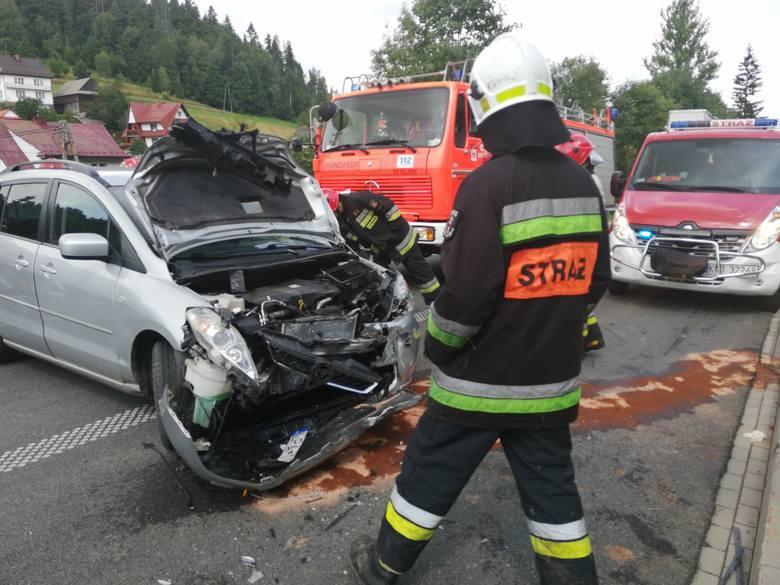 Początkiem sierpnia minionego roku do poważnego wypadku doszło w miejscowości Bielanka na Podhalu. Zderzyły się tam dwa samochody. Droga wojewódzka nr