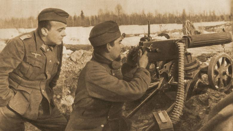 Błękitna Dywizja na pozycjach pod Nowogrodem (1942 r.)