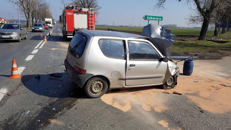 Wypadek w Kobierzycach
