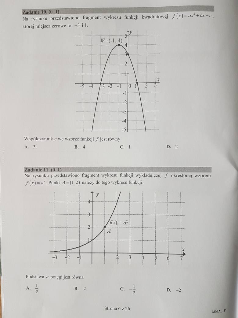 Matura 2017. ODPOWIEDZI - matematyka poziom podstawowy [ROZWIĄZANIA, ARKUSZE CKE, PYTANIA]
