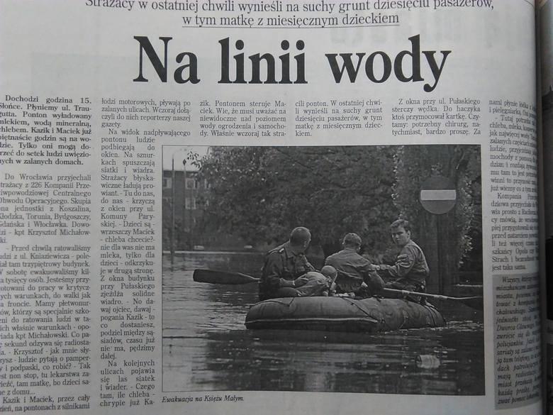 Powódź we Wrocławiu: Miasto zalane 13 lipca 1997 r. [ZDJĘCIA]