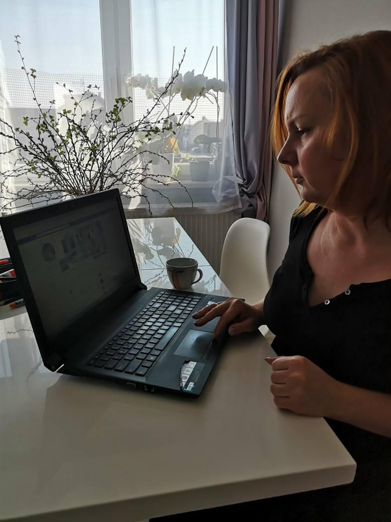 Dagmara Sak prowadzi salon sukien ślubnych i komunijnych przy Piotrkowskiej. Jej trzyosobowa firma jest zamknięta od marca. Komunie w maju odwołane,