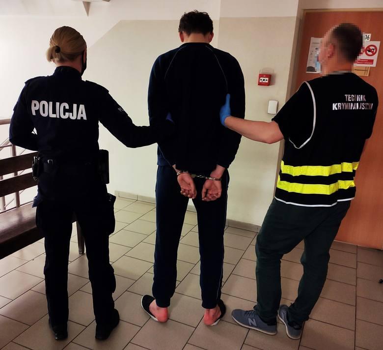 Jeden z zatrzymanych sprawców napadu na kuriera w Bytowie