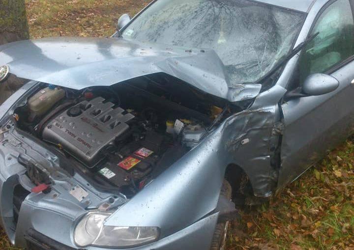 """Do wypadku na krajowej """"ósemce"""" niedaleko miejscowości Dryga doszło w czwartek, około godziny 13.Zdjęcia dzięki uprzejmości OSP Su"""