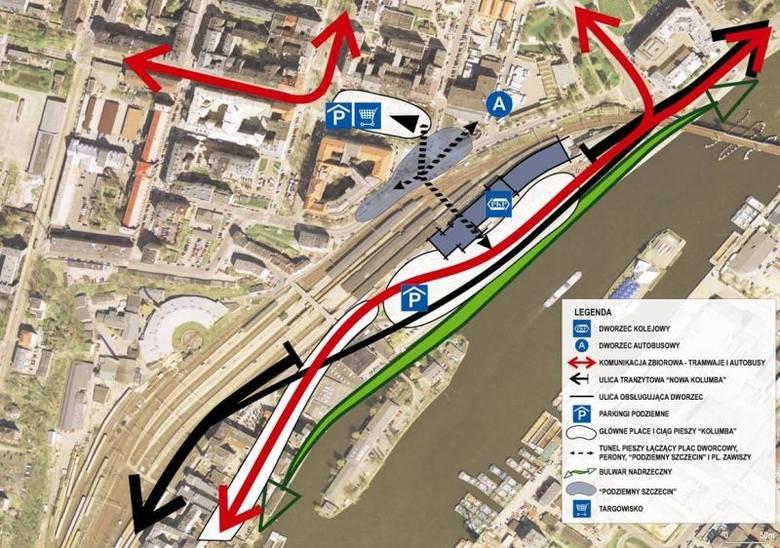 W ramach inwestycji przebudowana zostanie ulica Kolumba. Nowa droga powstanie przy samych torach kolejowych.