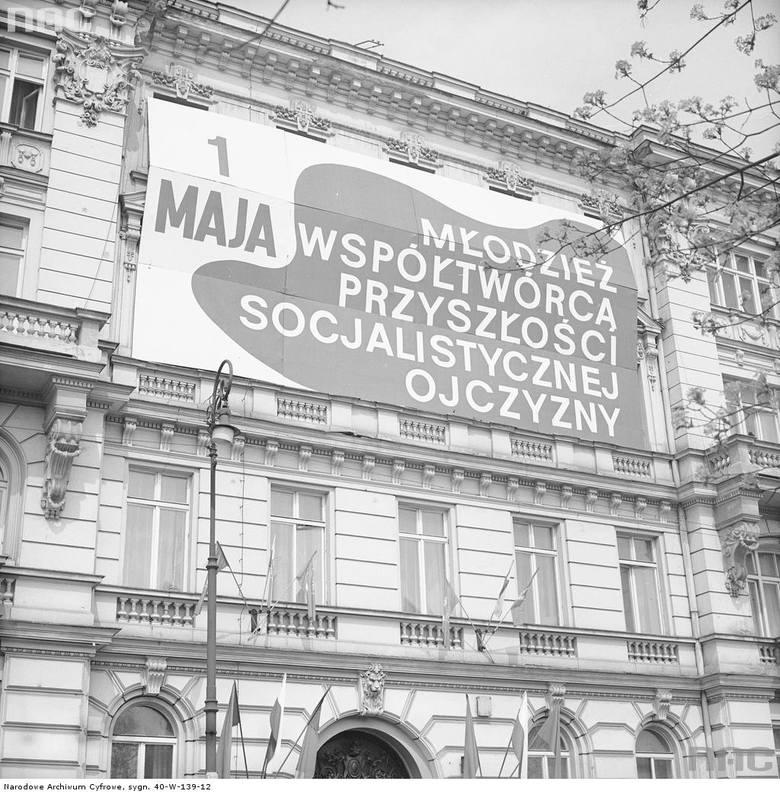 Fasada budynku Siedziby Zarządu Głównego Związku Socjalistycznej Młodzieży Polskiej przy ul. Smolnej.