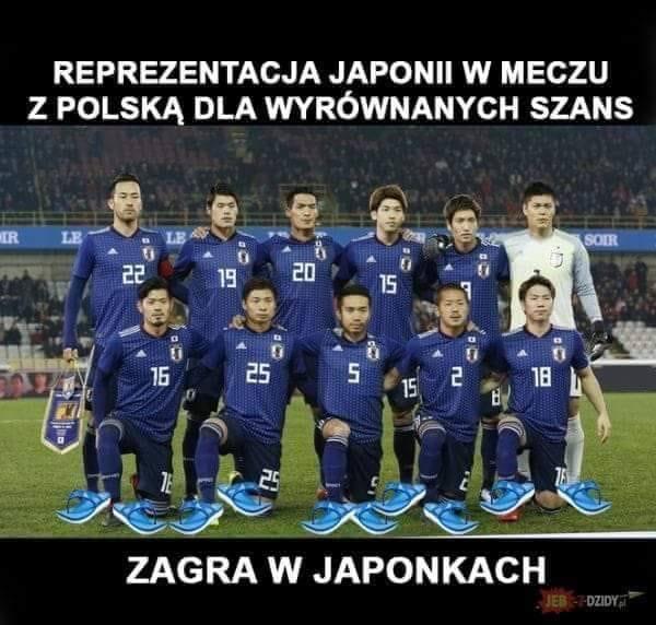 Przed nami mecz o honor. Memy internautów przed meczem Polska - Japonia.