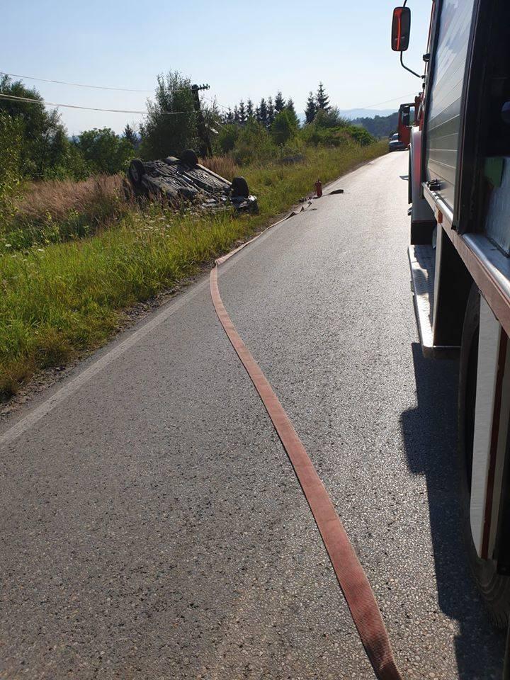 Groźny wypadek na drodze w Stroniu