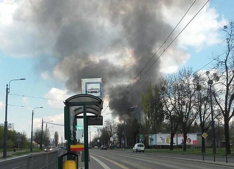 Pożar w Łodzi