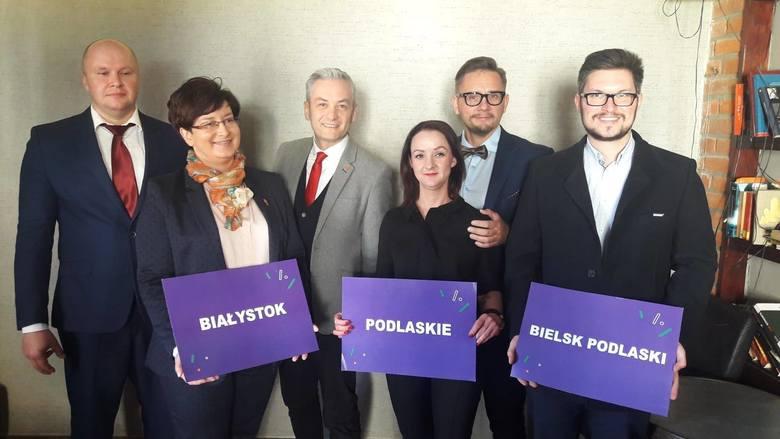 Na zdjęciu (od lewej)Sławomir Gromadzki, Monika Falej, Robert Biedroń, Elżbieta Murawko, Paweł Krutul, Tomasz Lewczuk