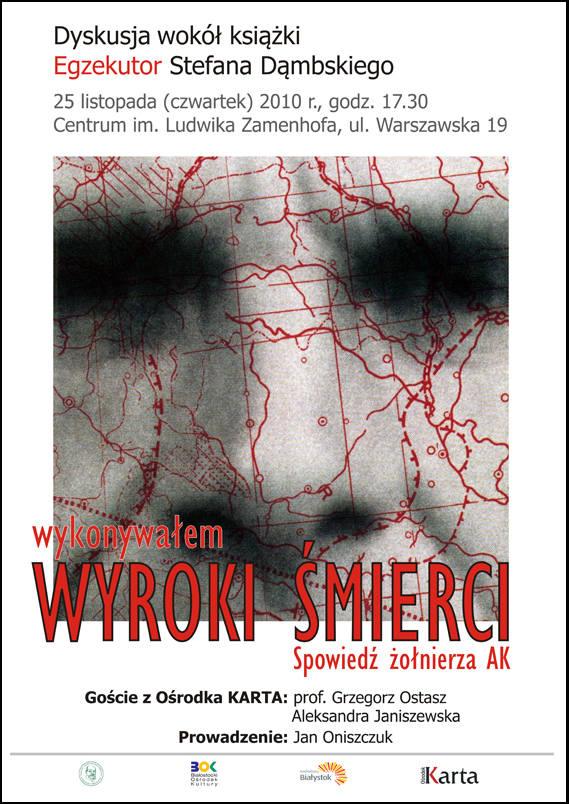 """Najnowsza książka Ośrodka Karta """"Egzekutor"""" Stefana Dąmbskiego to wstrząsające świadectwo, o którym sam autor napisał: Zdaję sobie"""