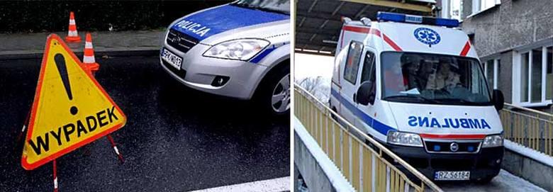 """Cztery samochody zderzyły się na krajowej """"czwórce"""" w Parkoszu"""