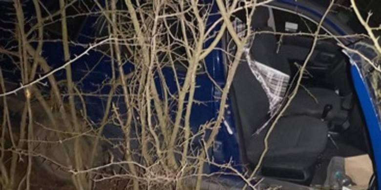 Iwanowice. Złodziej uciekał przed policją, zjechał ze skarpy i wpadł w zarośla