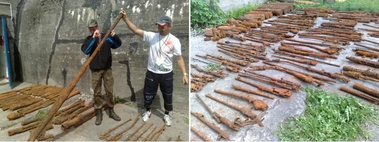W lasach koło Trzebieży odkryto arsenał broni. Zobacz zdjęcia i film