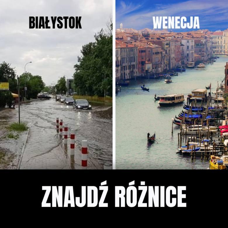 Memy po ulewie w Białymstoku: 28.05.2019: Co roku Białystok zamienia się w Wenecję [ZDJĘCIA]