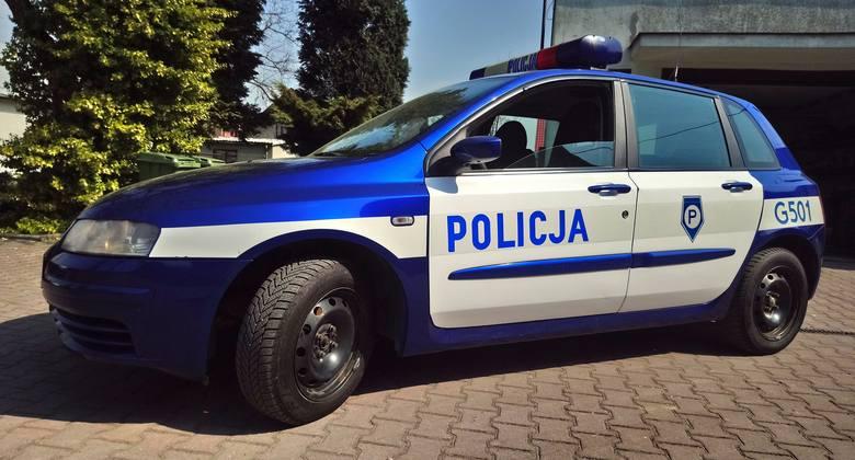 Radiowóz Fiat Stilo – przekazany przez Komendę Wojewódzką Policji w Krakowie.