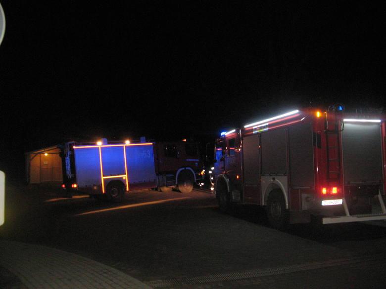 Pożar przy wypożyczalni nart w Świeradowie-Zdroju (ZDJĘCIA)