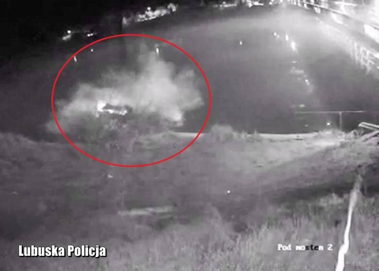 Ucieczka przed policją zakończyła się w rzece. Auto wpadło do wody w Świerkocinie