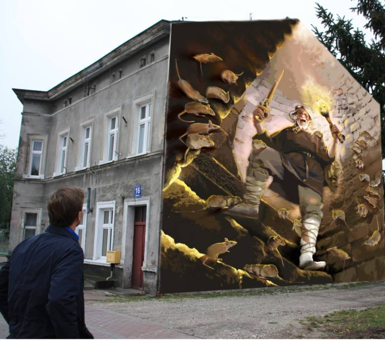 Na budynku przy ulicy Zamkowej 16 w Kruszwicy powstanie mural. Grafika inowrocławskiego artysty Marcina Fołdy upiększy Kruszwicę już w tym roku. - Zależało