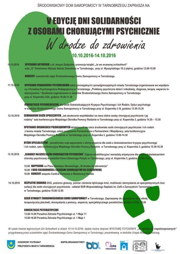 Dni Solidarności z Osobami Chorującymi na Schizofrenię w Tarnobrzegu