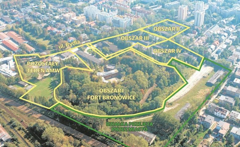 Obszar II to ponad hektarowy teren, który przejął już deweloper. Obszar III i IV AMW próbuje sprzedać miastu, ale na razie się nie udaje. Jeszcze gorzej
