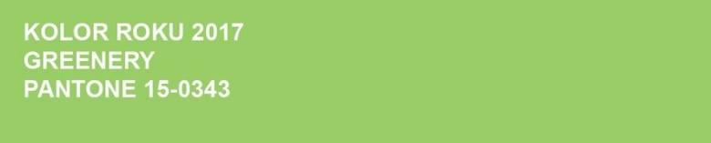 Kolor roku 2017 - zielony