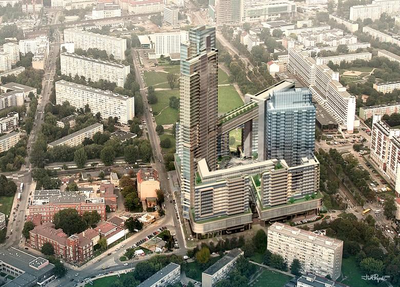 Największy wieżowiec we Wrocławiu, Sky Tower przy ul. Powstańców Śląskich, już na stałe wpisał się w krajobraz miasta. A czy pamiętacie Państwo, że nie