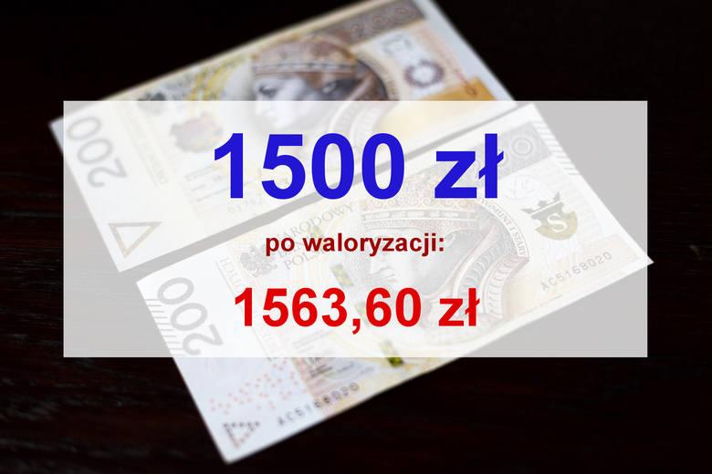 Przypomnijmy, że rząd w projekcie ustawy budżetowej zakładał waloryzację na niższym poziomie (103,84 proc.). Ostatecznie wskaźnik waloryzacji jest jednak