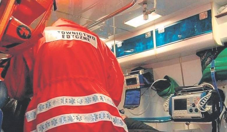 Ranny chłopiec został przetransportowany do szpitala