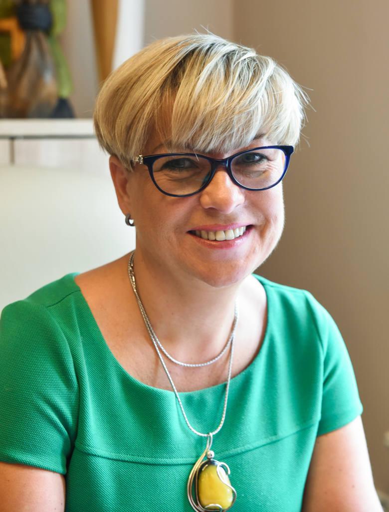 Małgorzata Pietrzak, prezes Pomorsko-Kujawskiej Okręgowej Izby Aptekarskiej w Bydgoszczy.