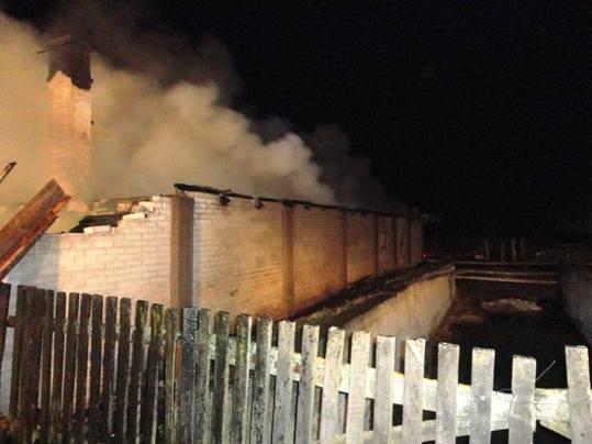 Ruda - groźny pożar zabudowań (zdjęcia)
