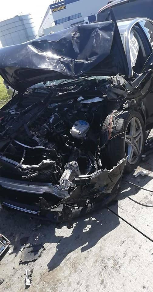 Wypadek cysterny i dwóch aut na A4. Siedem osób rannych