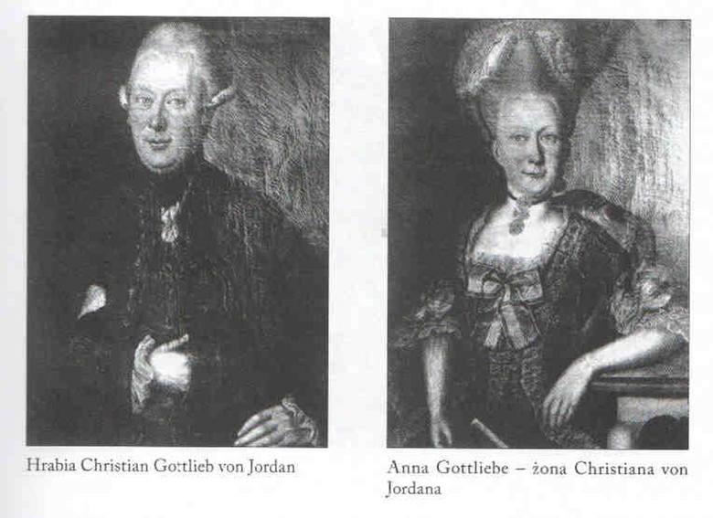 Christian Gottlieb von Jordan z żoną Anną Gottlieb.