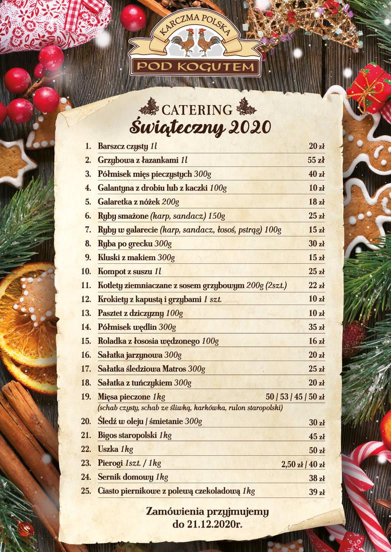 Świąteczny catering na bazie prawdziwej polskiej kuchni. Poznaj ofertę Karczmy Polskiej pod Kogutem