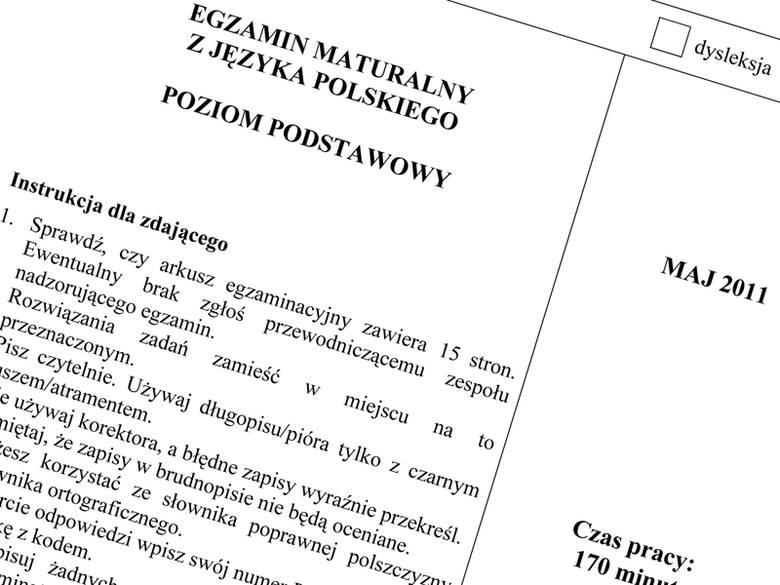 Pobierz arkusz z języka polskiego. Matura 2011