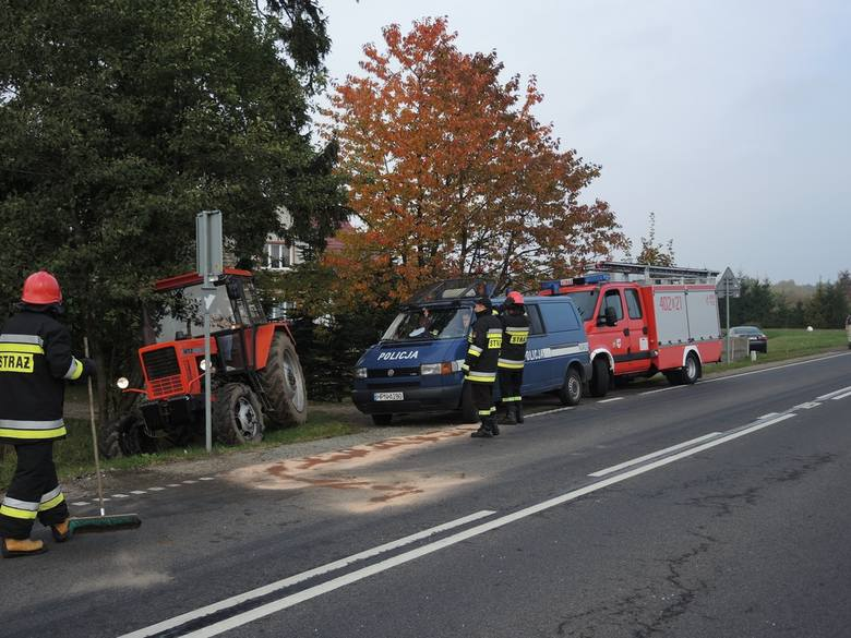 Kolizja trzech samochodów w Miłocicach - droga krajowa nr 20