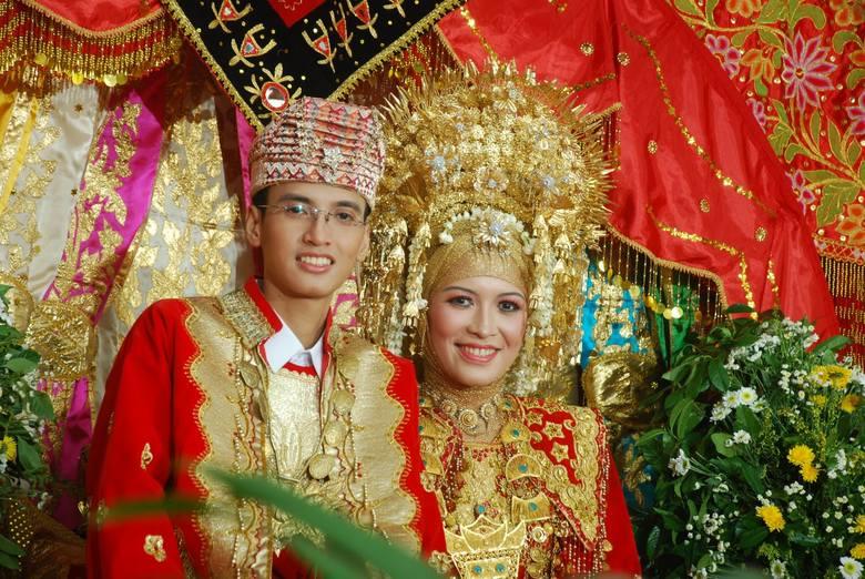 Indonezja -para ślubna