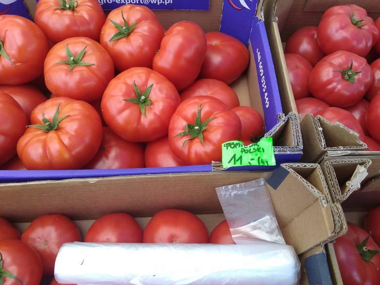 Ceny na placu targowym Konfin
